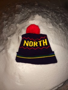 "Askov Finlayson's ""North"" hat, as photographed by Joe Huber, and published in Macalester College's student newspaper, ""The Mac Weekly"""