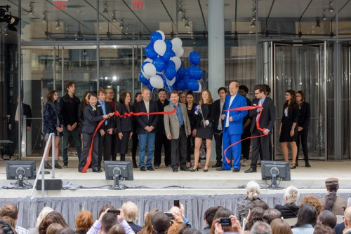 Whitney Dedication Ceremony, as pictured on the Whitney's website