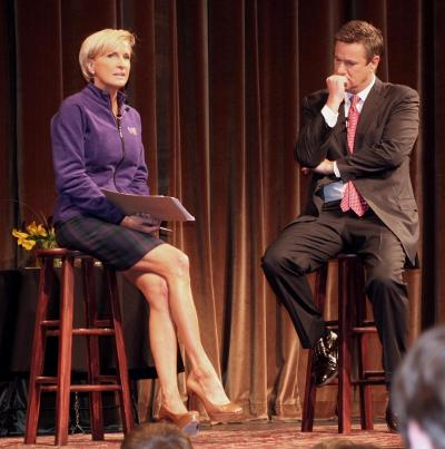 Brzezinski '89 at a 2010 Williams event.  Photo credit Kris Dufour, Sports Information