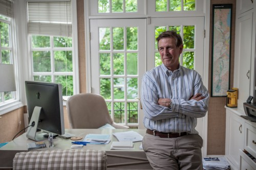 Don Beyer '72, in his Alexandria, VA home.  Photo by Andre Chung in a Washington Post article