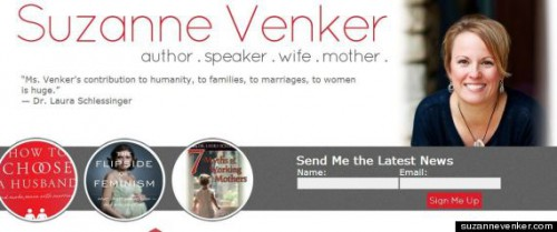 Venker's website, via the Huffington Post